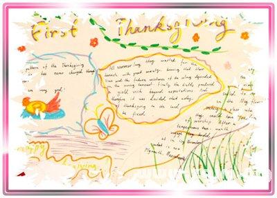 感恩节 英语手抄报图片
