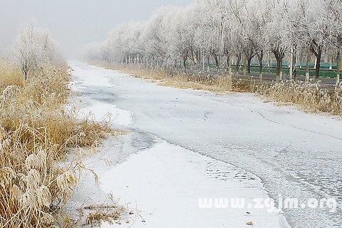 孕妇早期梦到河水结冰